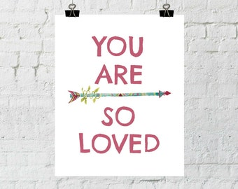 Whimsical Art, Whimsical Prints, You Are So Loved, Nursery Wall Art, Printable Wall Art, Instant Download, ADOPTION FUNDRAISER