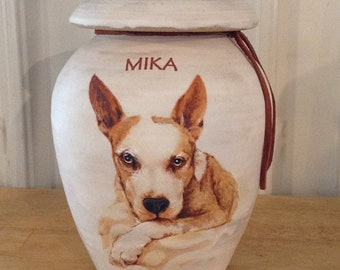 CUSTOM Dog Urn Up to 50 lb Pet