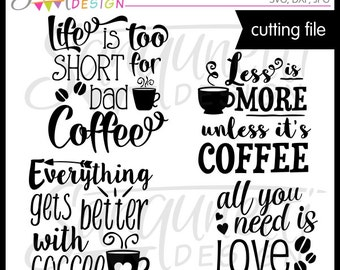 Coffee Lettering SVG, DXF, Coffee Clipart, Lettering Clipart, Coffee SVG, svg Files for Cutting Machines Cameo or Cricut