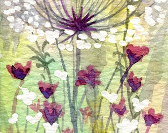 Original Watercolour ACEO Painting 'Meadow Series No. 2'