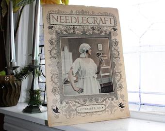 1918 Needlecraft Magazine September Issue