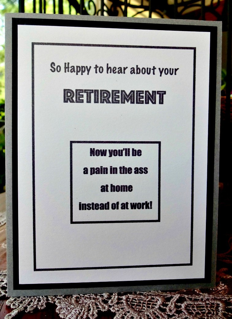 Retirement Card Coworker Card Goodbye Farewell Sarcastic