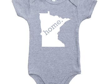 Homeland Tees Minnesota  Home Unisex Baby Bodysuit