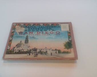 1915 San Diego postcard souvenir