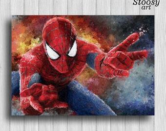 Spiderman Poster Watercolor Spider Man Superhero Spiderman