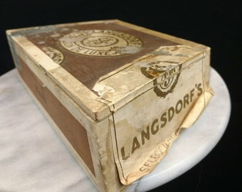 1960s/1970s Antique Cigar Box