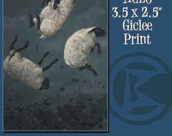 ACEO Three Sheeps to the WInd