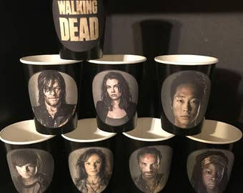 12 TWD The Walking Dead Birthday Party Cups 9 ounce