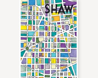Shaw Neighborhood Map