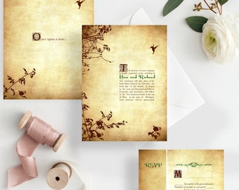 Fairytale wedding invitations - Romantic Fairytale princess wedding invitations {Taylorsville design}