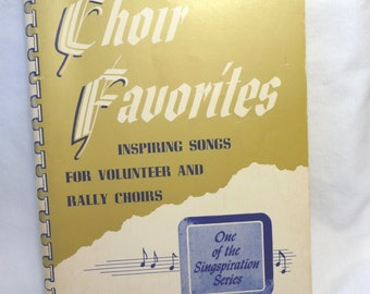 Choir Favorites, Vintage Church Music, Volume Three, Singspiration Series, Christian Music, Religious Music, Softcover Book, Singing Book
