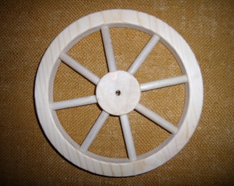 "Handcrafted 8""  wooden wheel with 8 spokes.Part No. 1401-E"