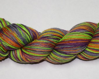 This is Halloween Self Striping Hand Dyed Sock Yarn