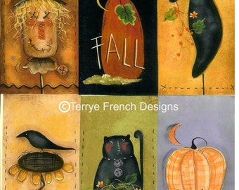 Printable Fall Tags - Painted by Terrye French