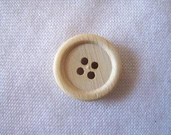 Bouton bois brut, rond, diamètre 18 mm (BB-322)