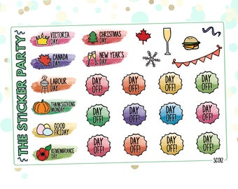 Canadian Holidays Planner Stickers | ERIN CONDREN