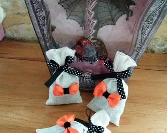 Set of 3 Lavender sachets to scent your cupboards Halloween themed