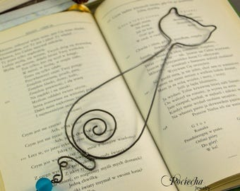 Cat Bookmark, metal bookmark, valentine gift,  gift for her, for him, personalized bookmark, booklover, catlover gift, romantic gift