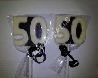 24- 50th birthday 50 year anniversary Lollipop Party Favors