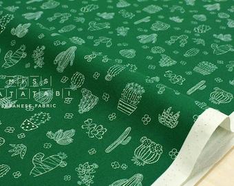 Japanese Fabric Little Cactus - green - 50cm