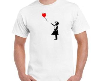Banksy Balloon Girl T Shirt