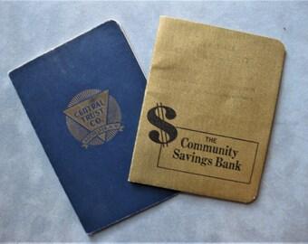 Two New York Vintage Savings Books