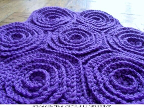 Crochet Hexagon Spiral Motif For Making Blankets Or Bags