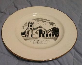 On Sale World Wide Art Studios First United Presbyterian Church Centennial Plate 10 inch Collectible Souvenir Plate Home Decor