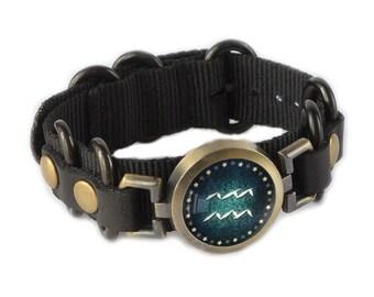 Aquarius Bracelet, Guys Jewelry