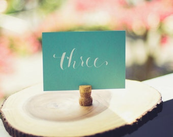 Table Card - Horizontal (Blue/White)