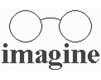 Imagine - Original Cross Stitch Chart | Inspired by John Lennon