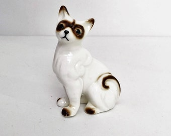 Miniature Siamese Cat, Porcelain figurine Cat