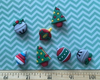 """SALE Christmas Ornament Buttons, Packaged Novelty Button Assortment """"Jingle Bells"""" Style #4779 by Buttons Galore, Sewing, Crafting Embellish"""