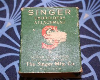 Singer Embroidery Attachment Extremely Rare Original Box #26538 Single Thread