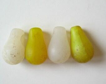 4 African Trade Bead Drops Pendants