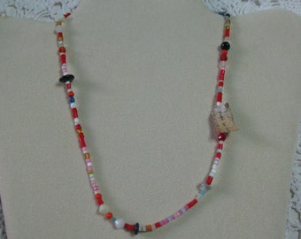 C-Vintage from New Orleans. Glass Mardi Gras beads made in  Czechoslovakia with original tag