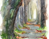 Forest Path Painting - Pr...