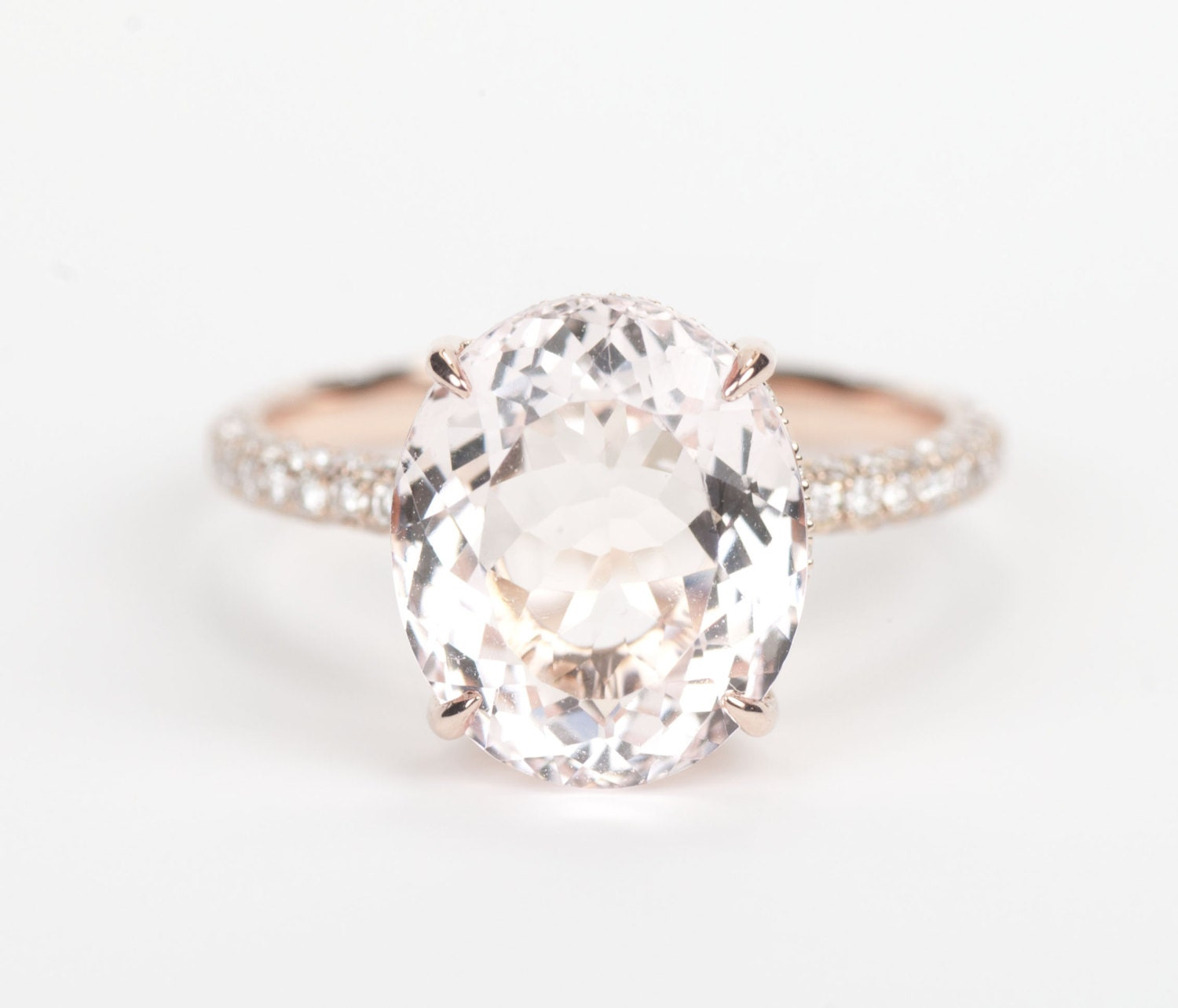 gold morganite and carat rose ring in rings engagement diamond