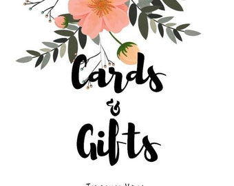 Cards and Gifts Wedding Signs PDF