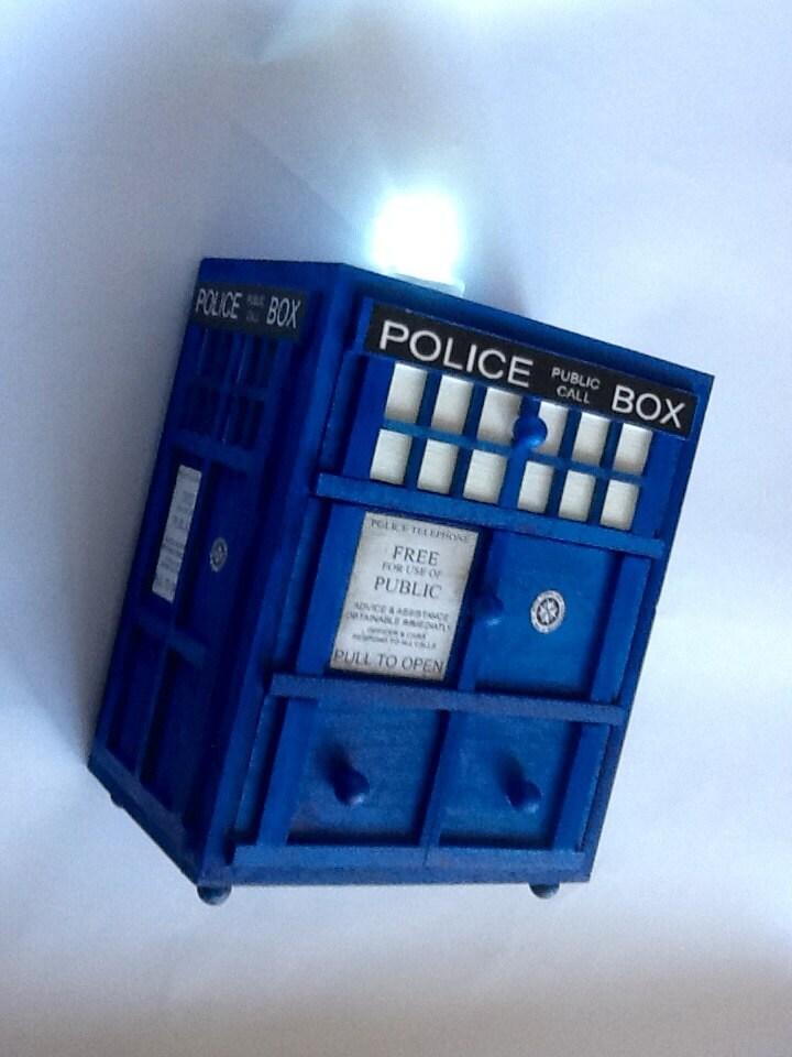 Unique Police Box Jewelry Box Handmade Jewelry Box Pop Art