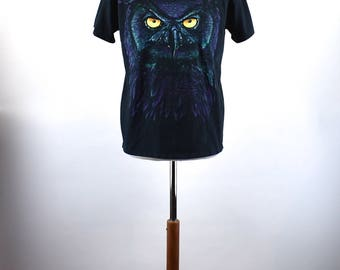 Owl T-Shirt, Size Medium, Made in the USA