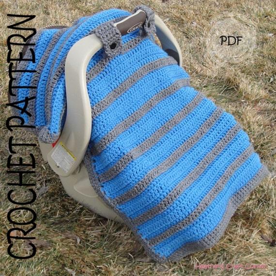 Crochet Pattern Simply Sweet Car Seat Canopy Blanket From