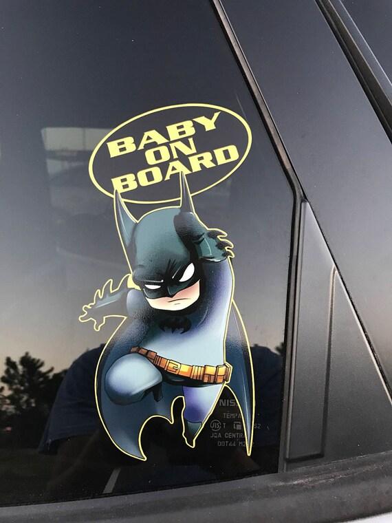 6be528971 ... Batman Baby On Board, Baby Batman Bumper Sticker, Baby On Board Decal,  Batman