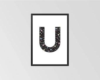 The letter U - Print (Universe)
