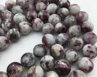 """Natural Eudialyte Smooth Round Gemstone Loose Beads Approx 15.5"""" Long per Strand. GEM-171120-06"""