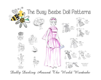 Dolly Darling Around The World Pattern Set For Vintage Barbie