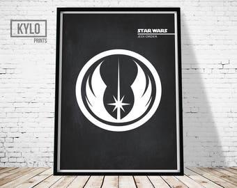 Star Wars, Star Wars Print, Jedi Print, Office Decor, Jedi Art, Star Wars Printable, Printable Art, Digital Print, Star Wars Logo, Wall Art