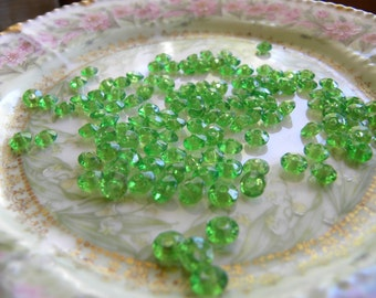 Vintage Plastic Lime Green Beads