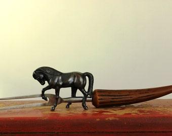 Vintage Carving Fork Faux Horn Meat Fork