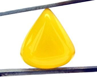 Yellow Onyx Cabochon Stone (20mm x 18mm x 7mm) - Drop Cabochon - Gemstone Cabochon